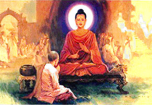 The Buddha and a Bhikkhu