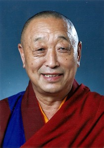 His Holiness Lungtok Tenpai Nyima, the 33rd Gyalwa Menri Trizin